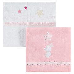 Set de 2 serviettes de bain brodées