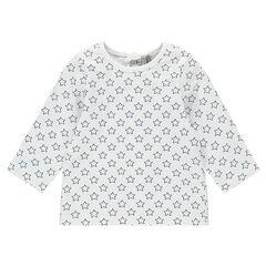 Tee-shirt manches longues en jersey imprimé all-over
