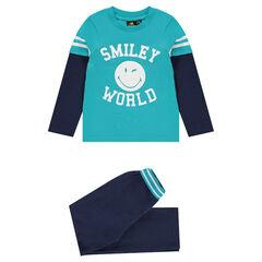Pyjama en jersey effet 2 en 1 print ©Smiley