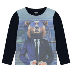 Junior - Tee-shirt manches longues print Ours