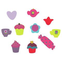 Set de 10 jouets de bain en mousse gourmandises
