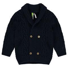 Gilet en tricot col châle