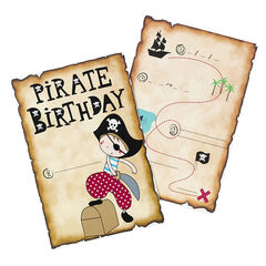 x 10 cartes d'invitation Pirate