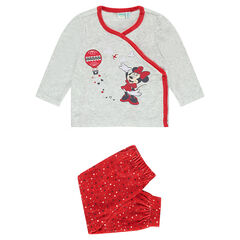 Ensemble de pyjama en velours Disney Minnie adapté en fonction de l'âge