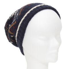Bonnet en tricot loose motif jacquard