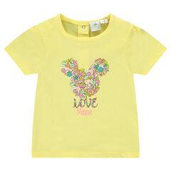 Tee-shirt manches courtes print fantaisie Disney Minnie