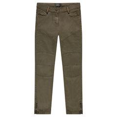 Junior - Pantalon slim avec jeu de découpes et zips fantaisie