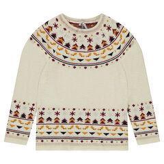 Junior - Pull en tricot avec motifs jacquard