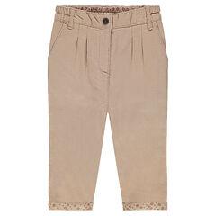 Pantalon uni en coton
