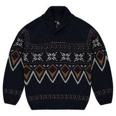 Junior - Pull en tricot à motif jacquard