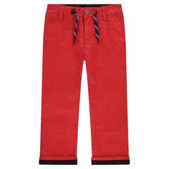 Pantalon chino uni rouge