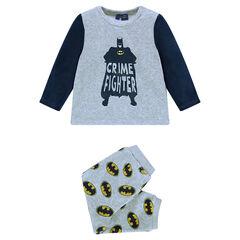 Pyjama en velours print BATMAN