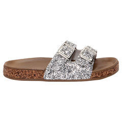 Nu-pieds argentés à paillettes du 24 au 27