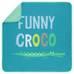 Couverture en jersey et sherpa print crocodile