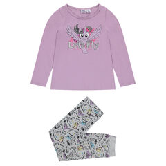 Ensemble en jersey avec tee-shirt print My Little Poney et pantalon ©2017 Hasbro