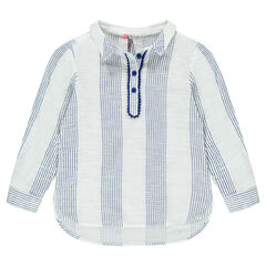 Chemise liquette à rayures fantaisie