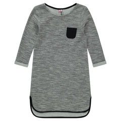 Junior - Robe sweat en molleton fantaisie