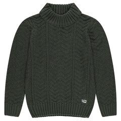 Junior - Pull en tricot avec col roulé