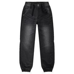 Jeans en molleton effet denim used