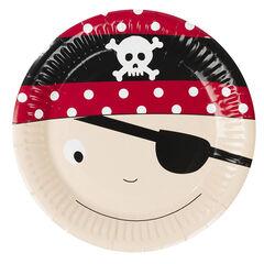 x 10 assiettes en carton motif Pirate