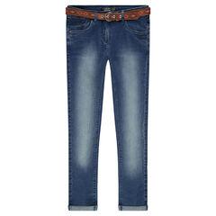Junior - Jeans slim à ceinture amovible