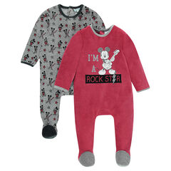 Lot de 2 dors-bien en velours Disney motif Mickey