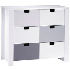 Commode 3 tiroirs - City Gris