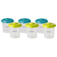 Lot de 6 portions clip 2ème âge 200ml - Néon