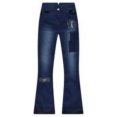Junior - Jeans flare effet used fantaisie