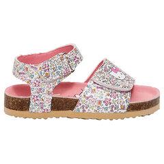 Nu-pieds fleuris Hello Kitty