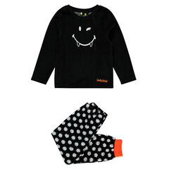 Pyjama en velours phospohorescent Smiley Halloween
