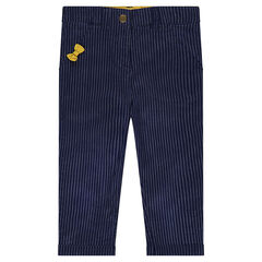 Pantalon chino à rayures fantaisie