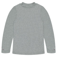 Sous-pull en jersey et lurex avec coeurs printés