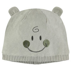 Bonnet en tricot avec oreilles cousues ©Smiley