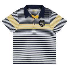 Polo manches courtes en jersey avec badge patché