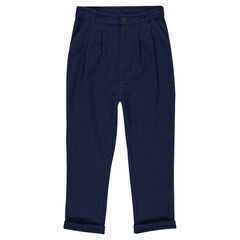 Junior - Pantalon en molleton fin avec finitions simili cuir