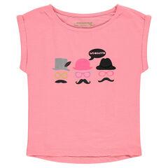Junior - Tee-shirt manches courtes forme boîte print fantaisie
