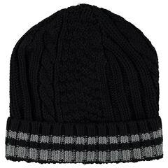 Bonnet en tricot à jeu de mailles