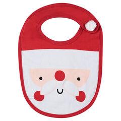 Bavoir en jersey motif Père Noel
