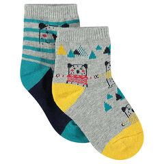 Lot de 2 paires de chaussettes avec motif ours