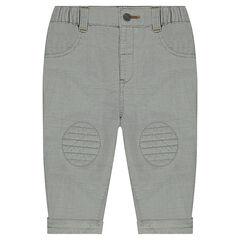 Pantalon en coton fantaisie avec poches plaquées
