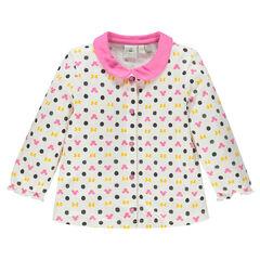 Tee-shirt manches longues imprimé Disney Minnie à col claudine