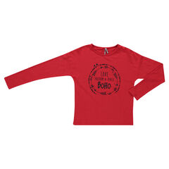 Junior - Tee-shirt en jersey slub print fantaisie