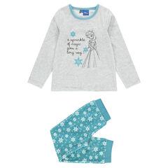 Pyjama long en velours print Disney La Reine des Neiges
