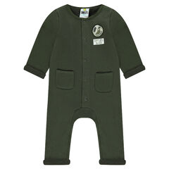 Combinaison en molleton kaki avec Badge Smiley et poches