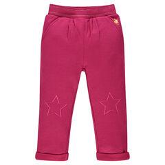 Pantalon de jogging en molleton avec broderies étoiles