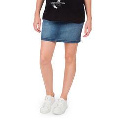 Jupe en jeans de grossesse effet used