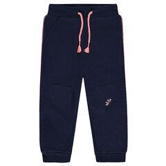 Pantalon de jogging en molleton uni avec patchs coeurs