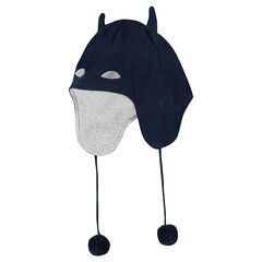 Bonnet en tricot BATMAN doublé jersey avec pompons
