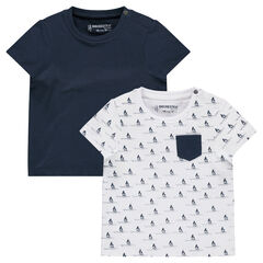 Lot de 2 tee-shirts manches courtes assortis